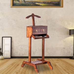 Solid Wood Indina Army Coat Hanger Stand