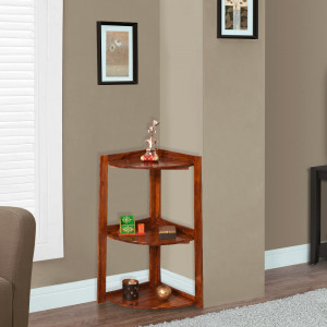 Solid Wood Corner Shelf with Stand Corner Table