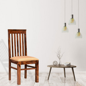 Comfort Dinning Chair in Sheesham Wood with Honey, Mahogany and Walnut Finish