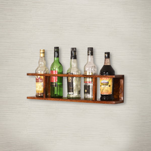 Wooden Wine Wall Shelf