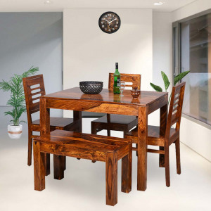 Paul Solid Wood 4 Siter Dining Table