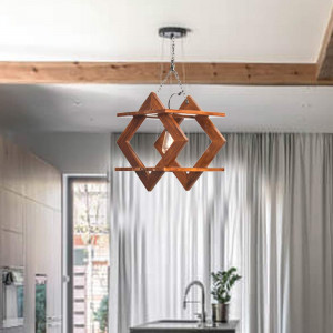 Solid Wood Pasig Wall Hanging Lamp