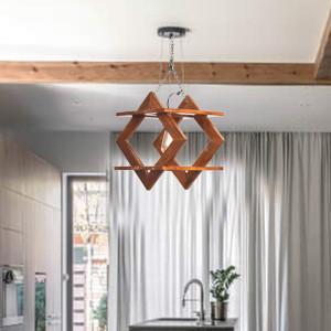 Solid Wood Pasig Wall Hanging Lamp