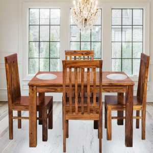 Solid Wood Orson Sheesham Four Seater Dining Table