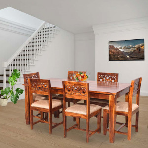 Solid Wood Aura Sheesham Dining Table