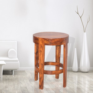 Solid Wooden Sheesham Rounded Bar Chair