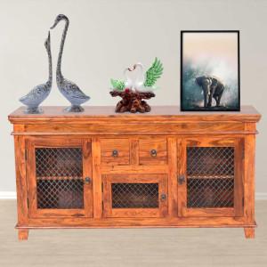Solid Wood Jali Sideboard Cabinet