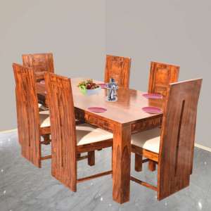 Sheesham Lerro Solid Wood Six Seater Dining Set