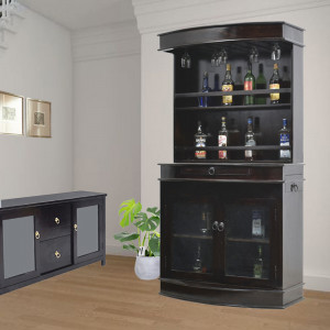 Jason Solid Wooden Sheesham Bar Cabinet
