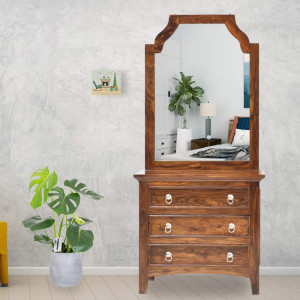 Solid Wood Allan Dressing table and Mirror