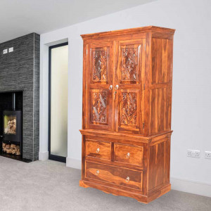 Solid Wood Carbin wardrobe