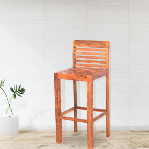Solid Wooden Benton Bar Chair