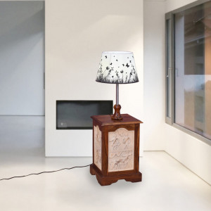 Sheesham Natural Finish Lamp stand