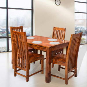 Solid Wood Patron Solid Wood Four Seater Dining Set