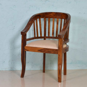 Wooden Arm Easy Comfort Chair for Home decor