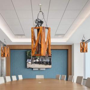 Solid Wood Cluster Hanging Lights