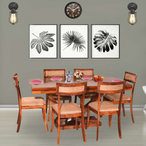Harleston Solid Wood Six Seater Dining Table