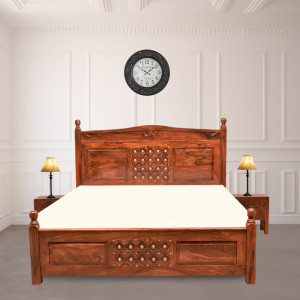 Solid Wood Downey Sheehsam Bed Without Storage