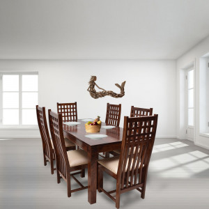 Solid Wood Adolph Hi Chair and Dining Table