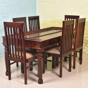 Solid Wood Mcbeth Brass Dining Table