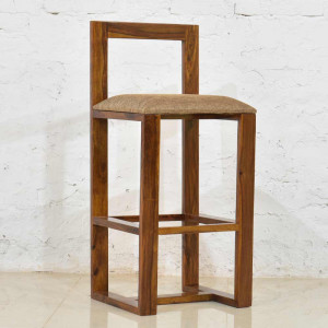 Solid Wooden Sheesham Bar Chair