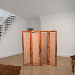Solid Wooden Cloth Follding Screen