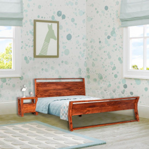 Solid Wood Denzel Sheesham None Storage Bed