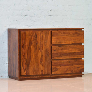 Solid Wooden Clovis Cabinet With Drawers